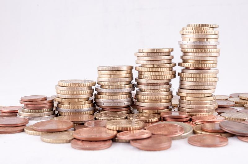 Business Money Concept Idea. Picture of a Business Money Concept Idea Euro Currency royalty free stock photography