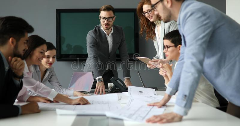 Picture of business seminar in conference room royalty free stock image