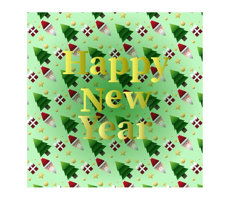 The card of Happy New Year vector illustration