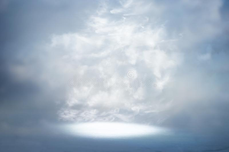 A picture of a celestial ray of light in the sky. Concept of religion and faith royalty free stock photo