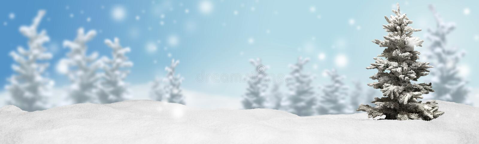 Christmas banner panorama background royalty free stock photography