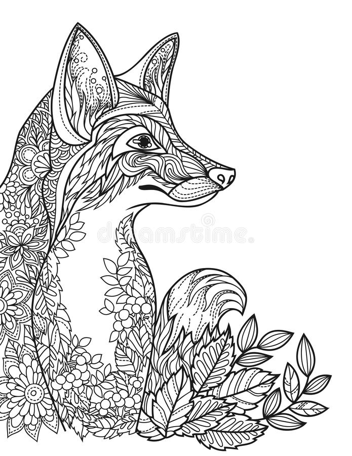 Paarden Kleurplaten M Picture For Coloring Book Depicting A Fox Stock Vector