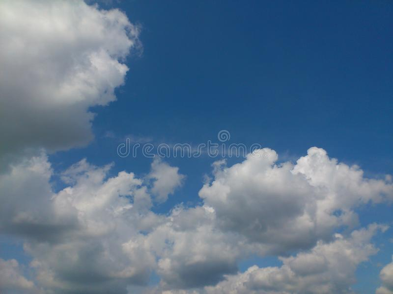 Picture  daytime sky with white clouds. Picture stock photography