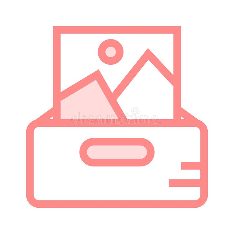 Picture drawer color line icon. Vector flat Icon. Elements for mobile concept and web apps. Thin line icons for website design and development, app development royalty free illustration