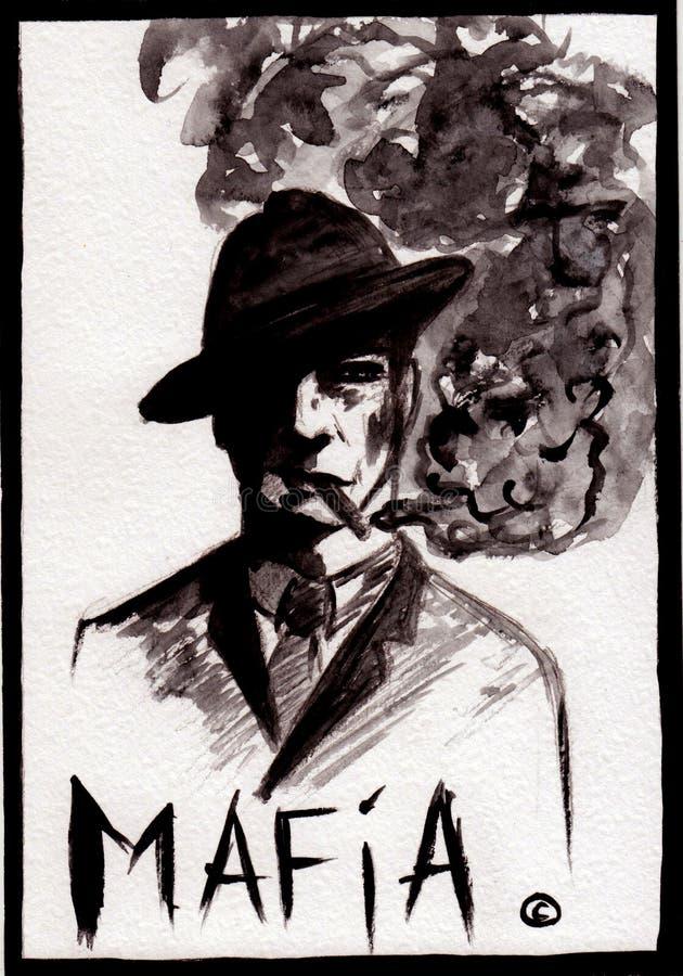 Person Grand Mafia of game Mafia stock photography