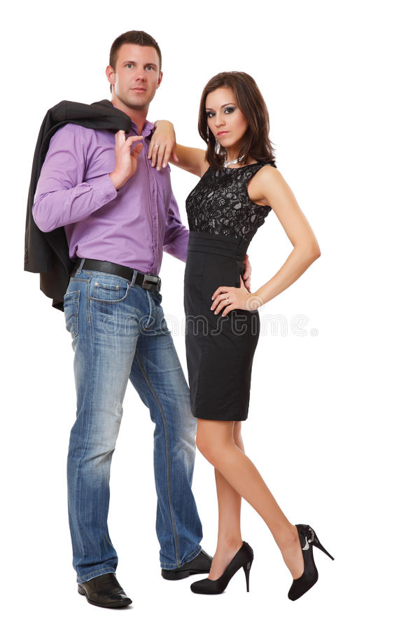 Picture of an elegant couple stock photography