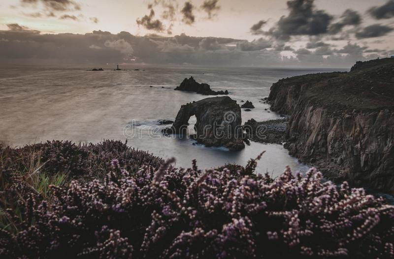 Enys Dodnan Arch stock images