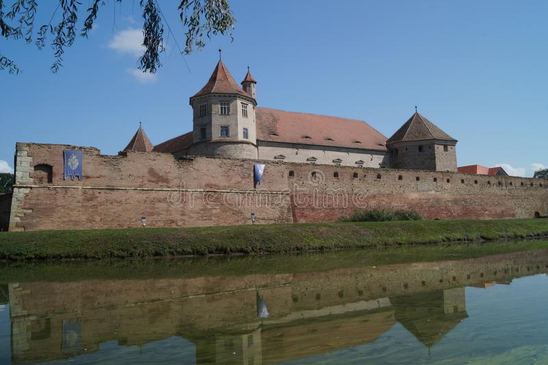 Picture with Fagaras fortress, Brasov, Romania royalty free stock photos