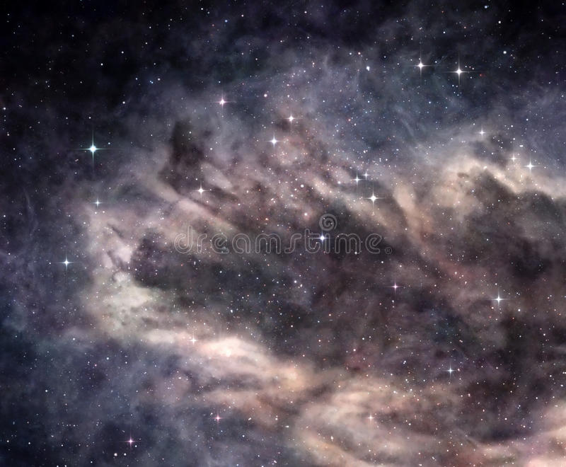 Dark nebula in deep space royalty free stock images