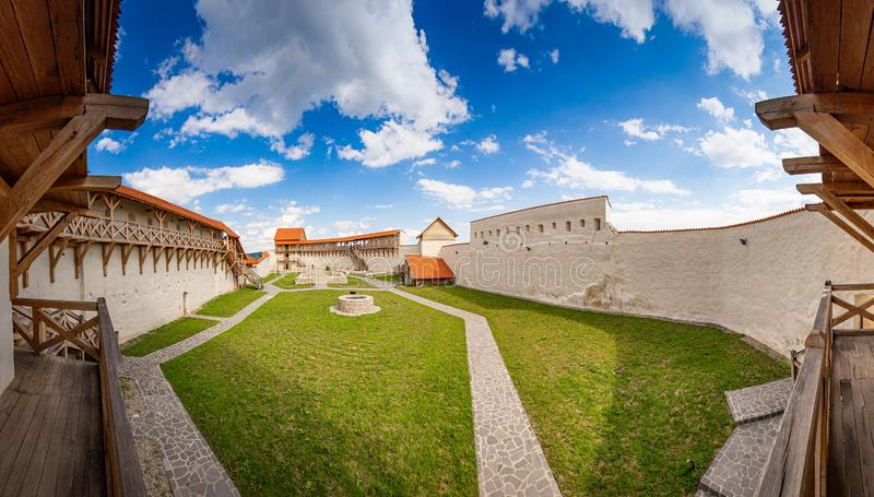 Picture of Feldioara fortress royalty free stock images