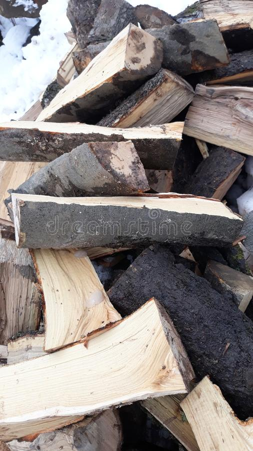 Firewood for winter royalty free stock photography