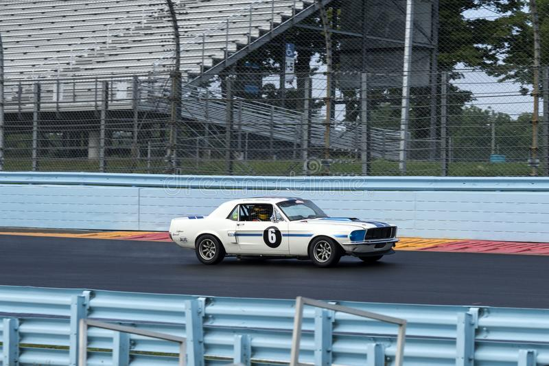 Ford mustang on the track stock images