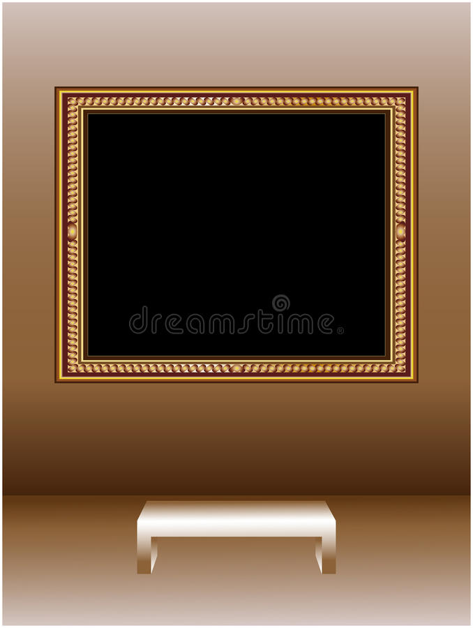 Download Picture frame stock vector. Illustration of museum, interior - 13484656