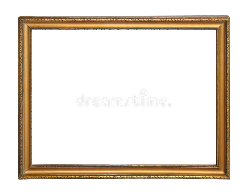 Picture frame. Blank picture frame, isolated on white royalty free stock images