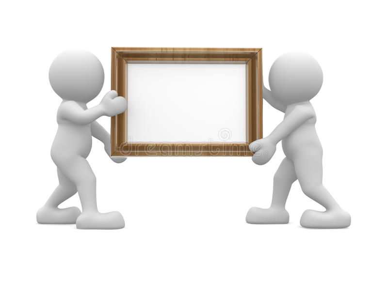 Picture frame stock illustration