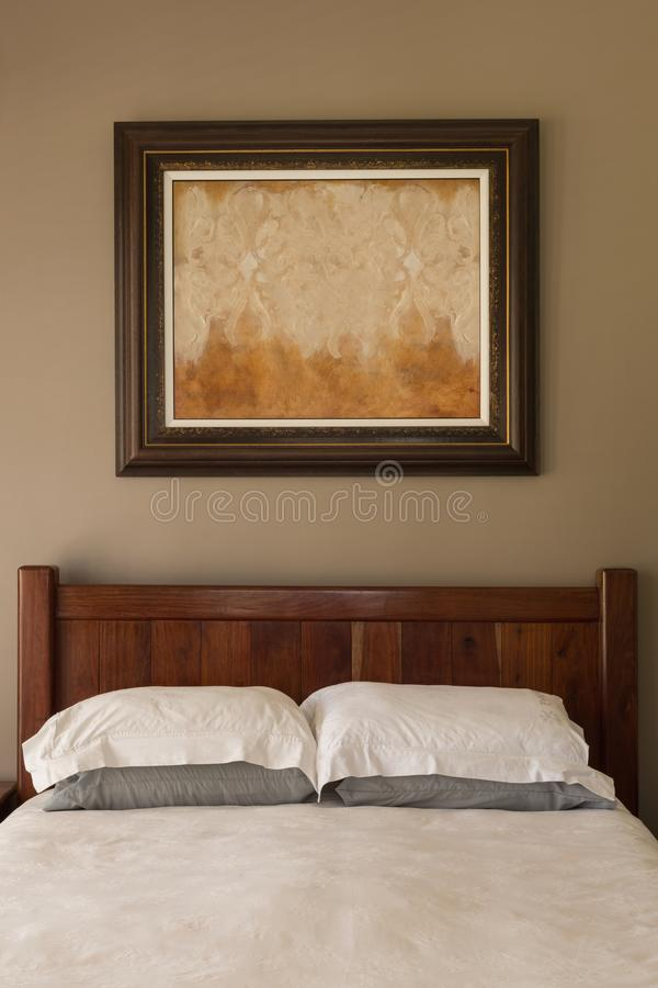 Picture frame in bedroom at home royalty free stock photo