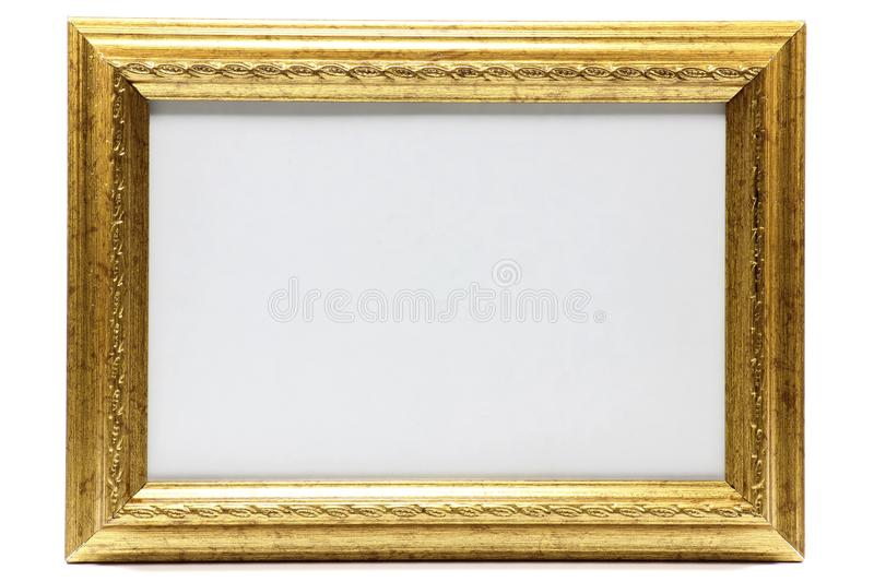 Picture frame. Blank picture frame isolated on white background stock photography