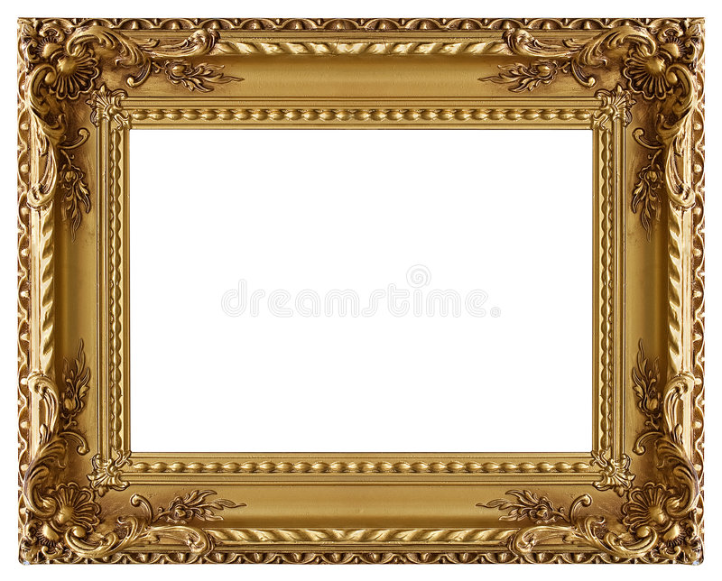 Picture frame with a decorative pattern stock image