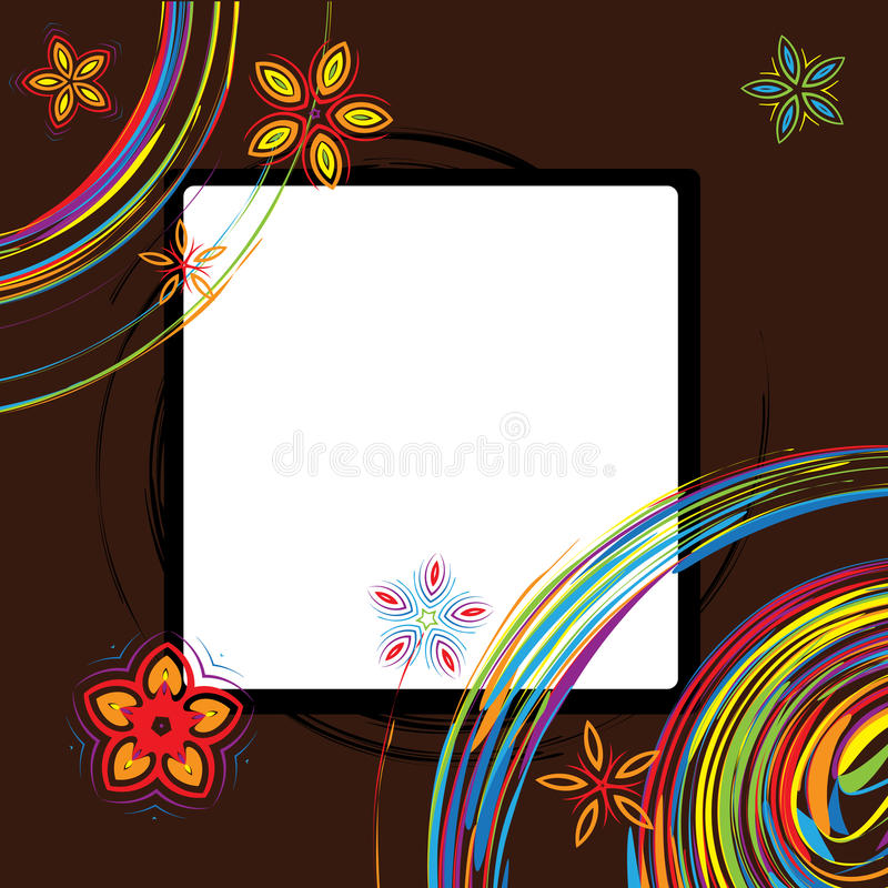 Picture frame design royalty free illustration