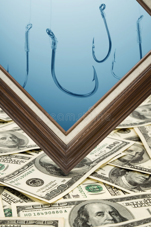 Picture Frame And Dollars Royalty Free Stock Images