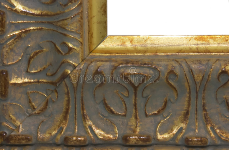 Picture Frame Gold royalty free stock image