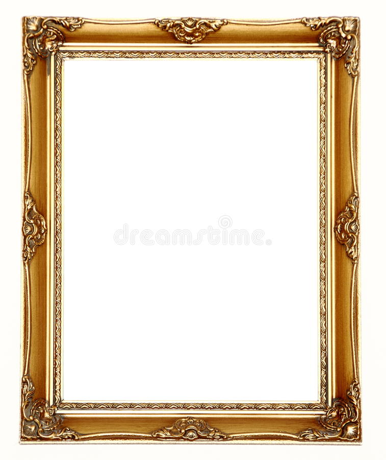 Picture frame gold royalty free stock images