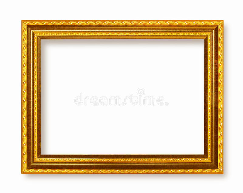 Picture frame gold dark tones wood frame royalty free stock photography