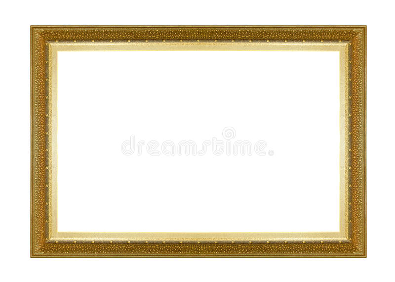 Picture frame gold dark tones wood frame stock photos