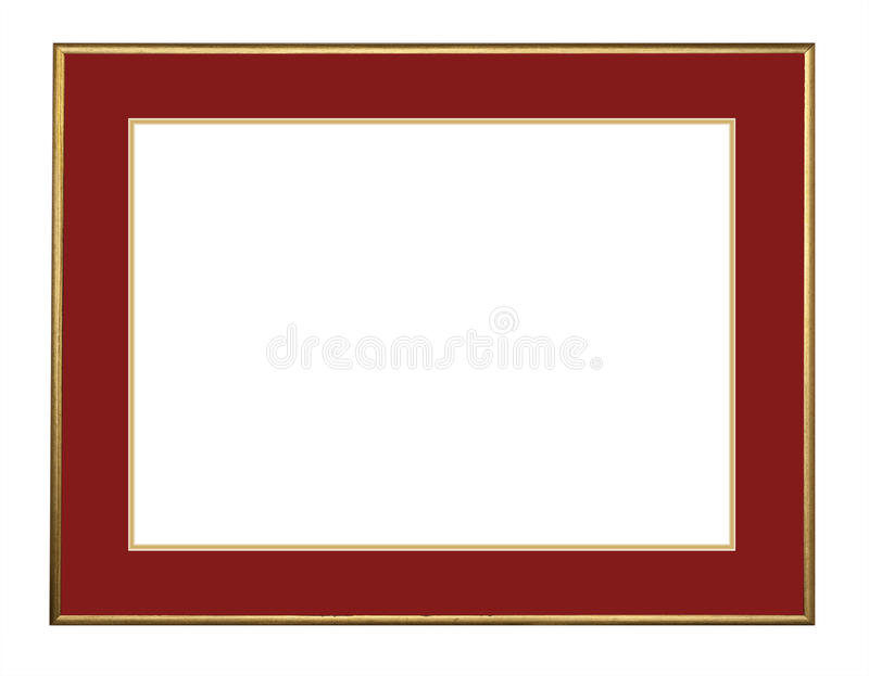 Download Picture Frame In Gold, Isolated Stock Photo - Image: 18800216