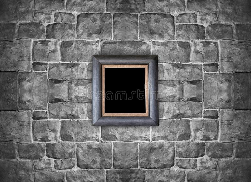 download picture frame hanging on stone brick wall stock photo image of castle interior