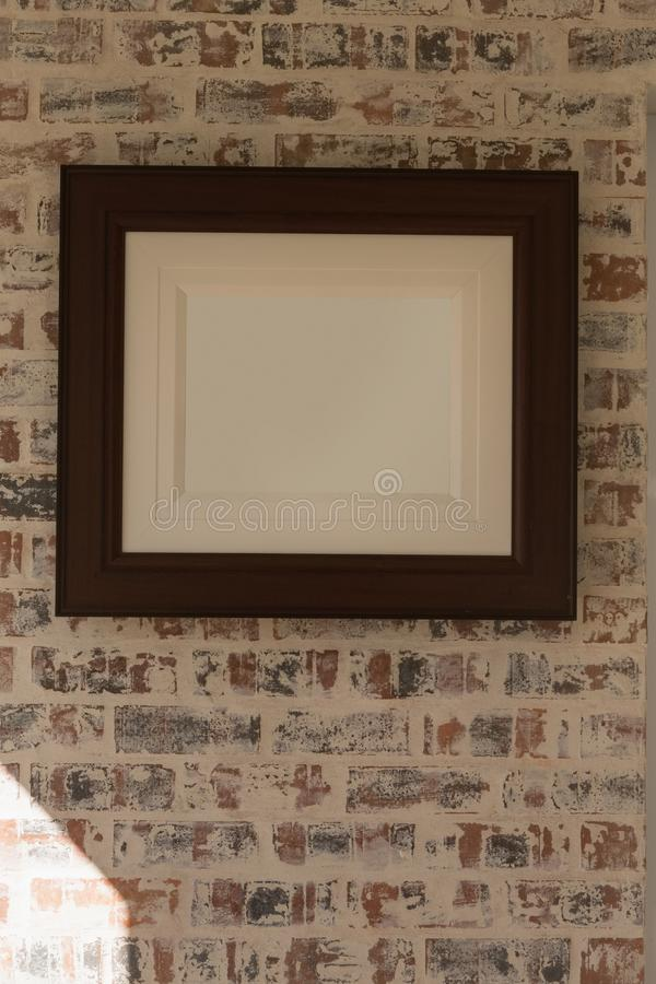 Picture frame at home royalty free stock images