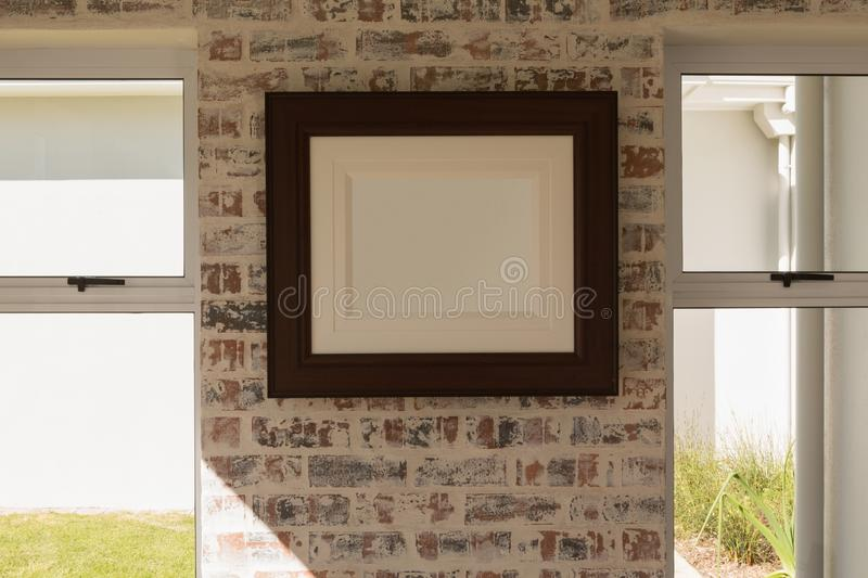 Picture frame at home stock photos