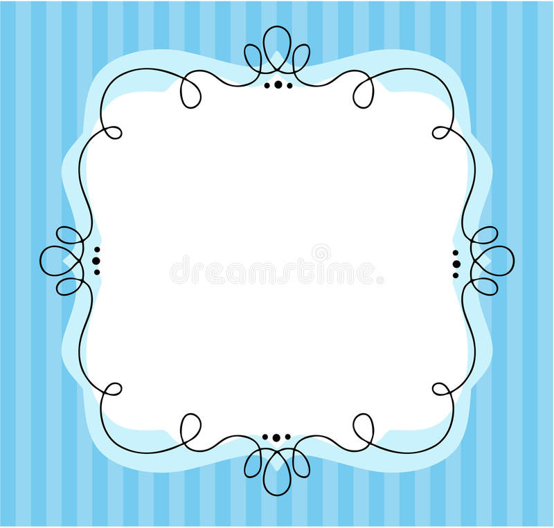 Picture Frame. Invitation for shower royalty free illustration