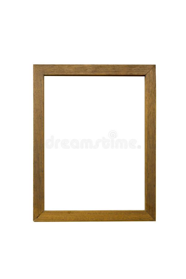 Picture frame Isolated white background. royalty free stock photo