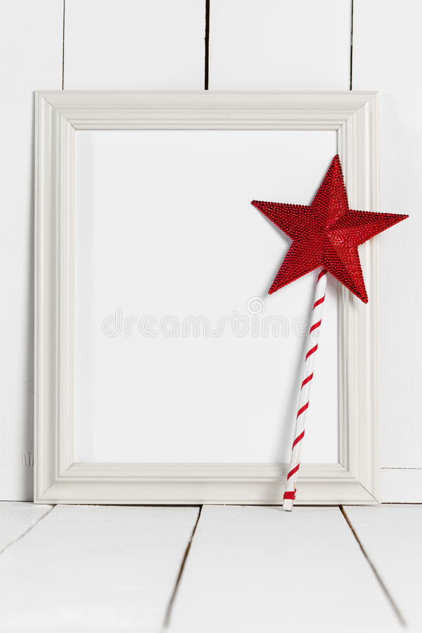 Picture Frame And Magic Wand Stock Photo - Image of fairytale, frame ...