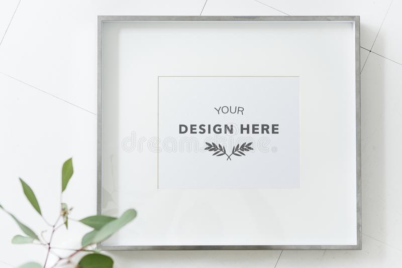 Picture frame mockup space background stock photography