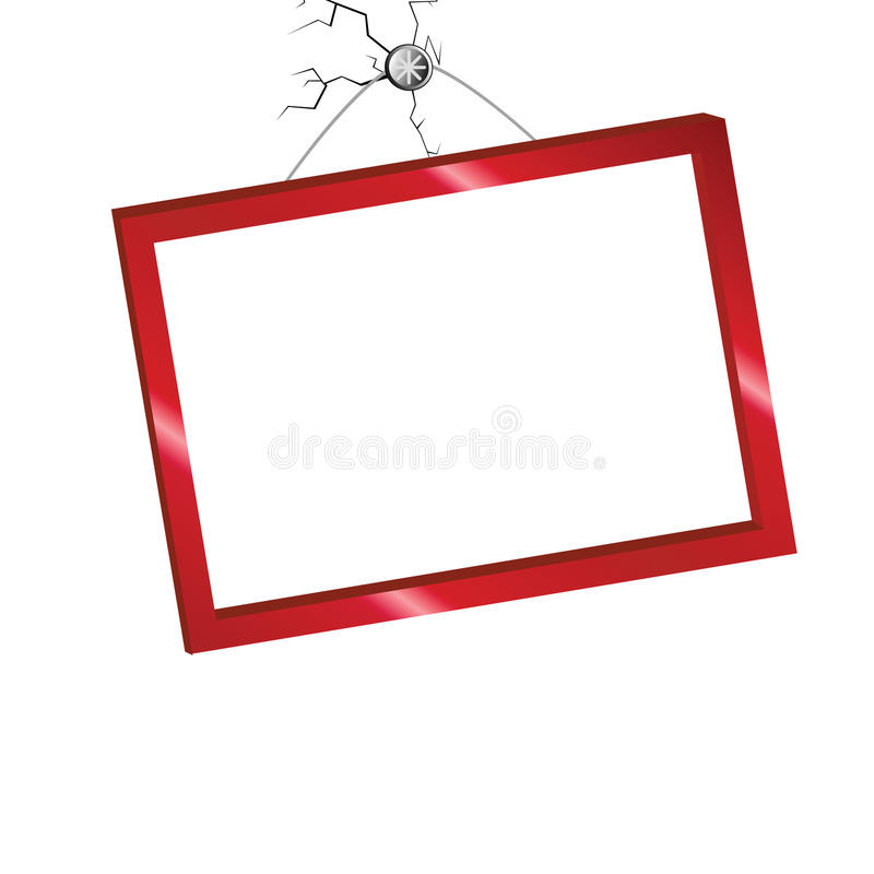 Picture frame in red color vector illustration. Picture frame in red color vector vector illustration
