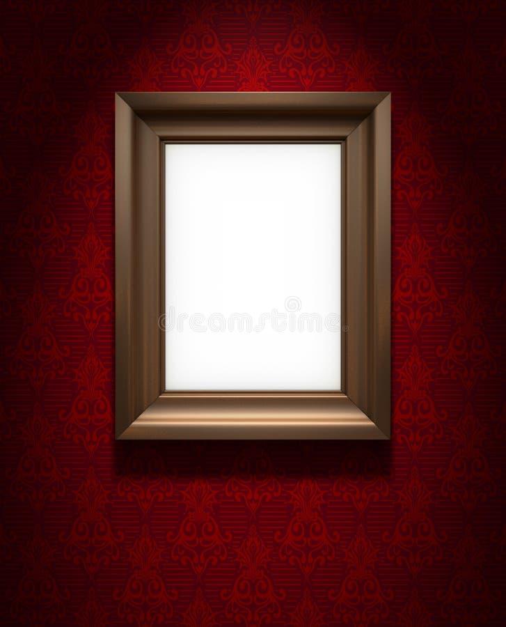 Download Picture Frame On Red Wallpaper Stock Illustration - Illustration of frame, background: 17925050