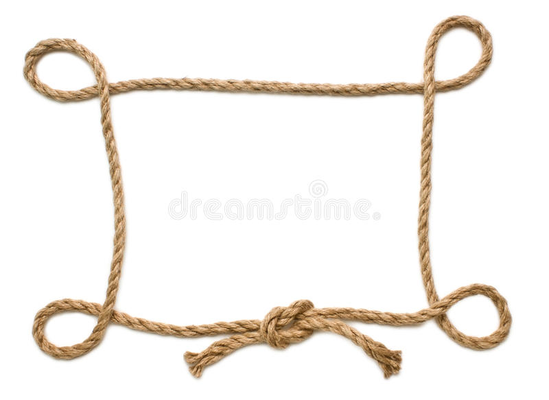Picture frame of rope stock photo image of ropes picture Rope photo frame