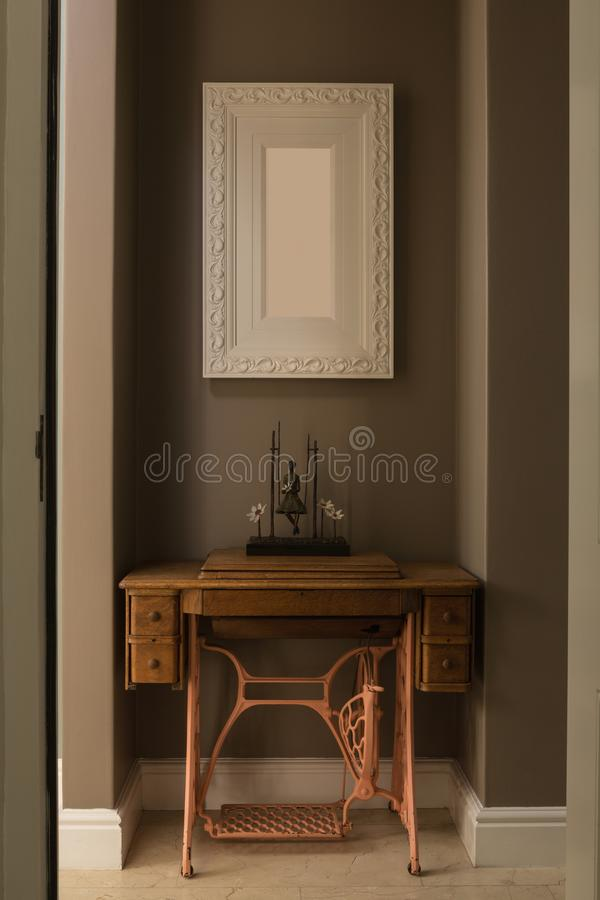 Picture frame and table at home royalty free stock image