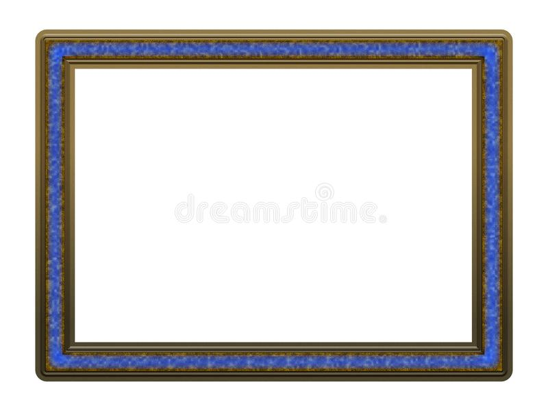 Picture Frame to put your own picture in. Modern and beautiful picture frame design, isolated on white background. File contains clipping path royalty free stock photography