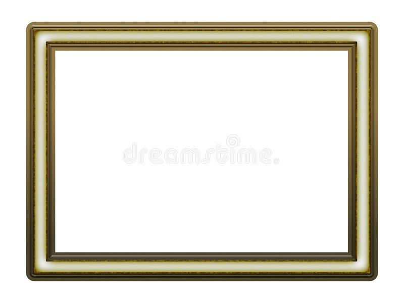 Picture Frame to put your own picture in. Modern and beautiful picture frame design, isolated on white background. File contains clipping path stock photos