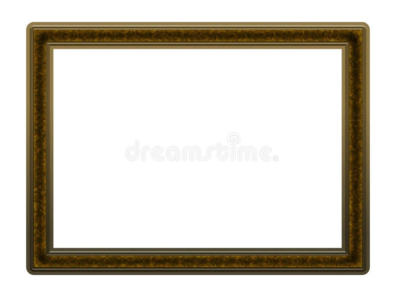 Picture Frame to put your own picture in. Modern and beautiful picture frame design, isolated on white background. File contains clipping path royalty free stock image