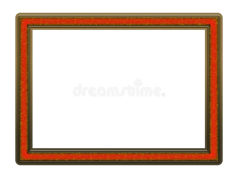 Picture Frame to put your own picture in. Modern and beautiful picture frame design, isolated on white background. File contains clipping path stock photo