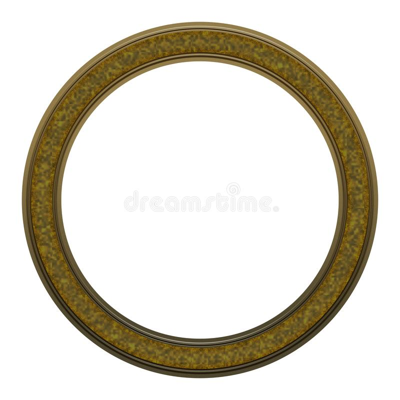 Picture Frame to put your own picture in. Modern and beautiful round picture frame design, isolated on white background. File contains clipping path stock images