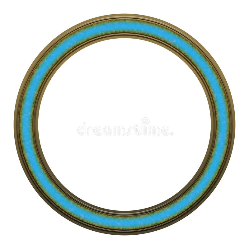 Picture Frame to put your own picture in. Modern and beautiful round picture frame design, isolated on white background. File contains clipping path stock image