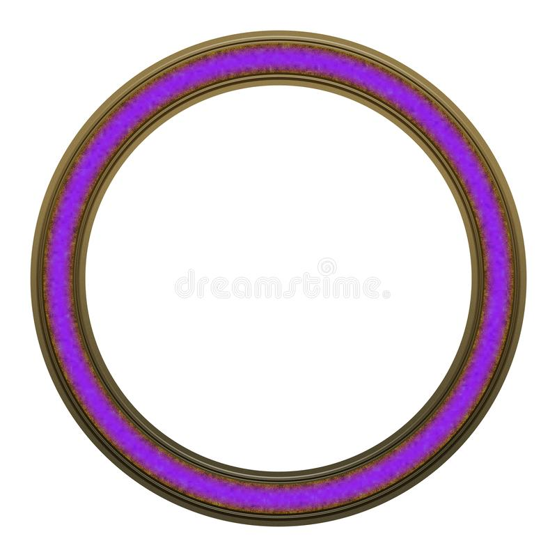 Picture Frame to put your own picture in. Modern and beautiful round picture frame design, isolated on white background. File contains clipping path stock photos