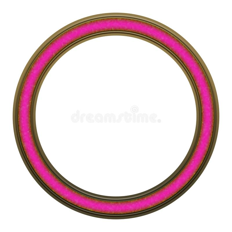 Picture Frame to put your own picture in. Modern and beautiful round picture frame design, isolated on white background. File contains clipping path stock photography