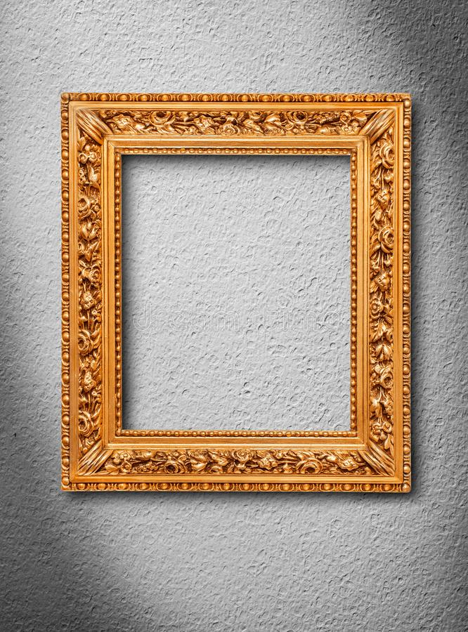 Picture frame on wall stock photography