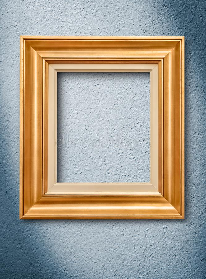 Picture frame on wall stock image